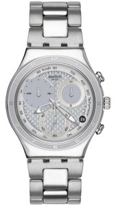 Swatch YCS549G Men's Silver Steel Bracelet With Silver Analog Dial Watch