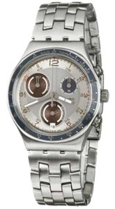 Swatch YCS536G Men's Silver Steel Bracelet With Silver Analog Dial Watch