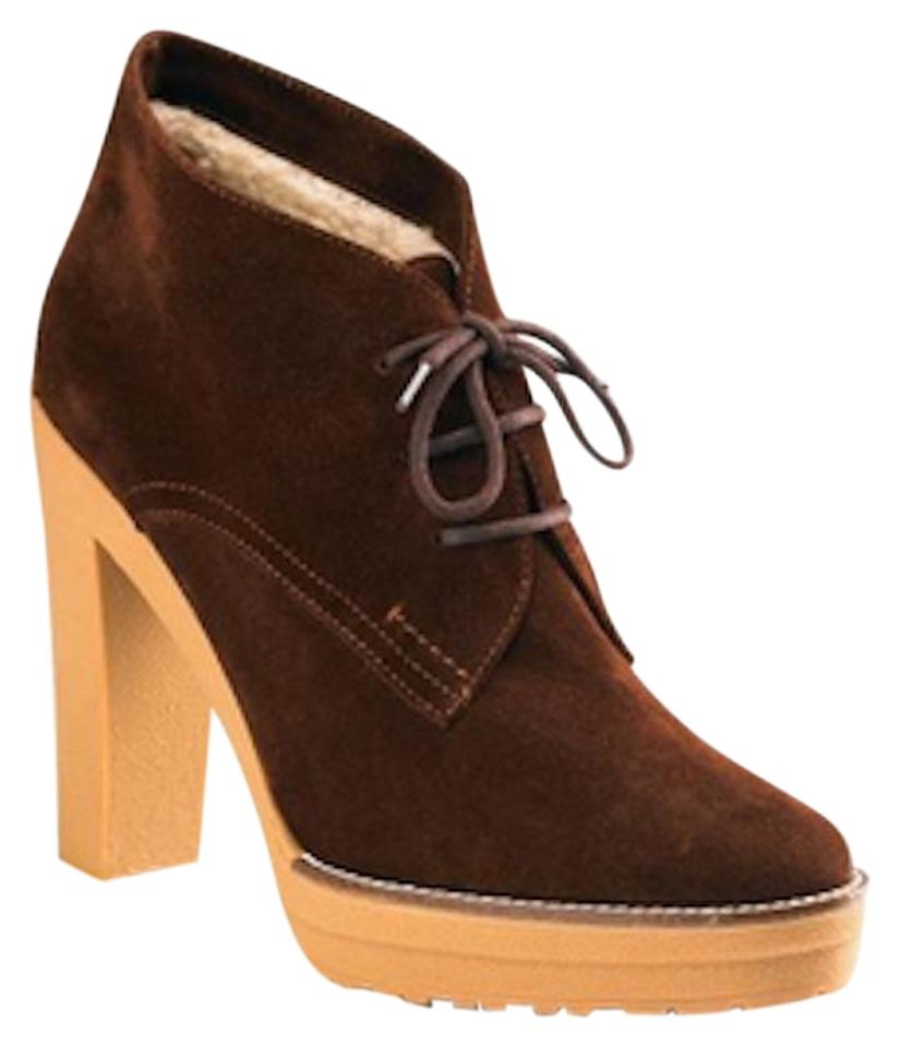 Ralph Lauren Collection Brown Trista Lace Up Suede Ankle BootsBooties Size US 7.5 Regular (M, B) 55% off retail