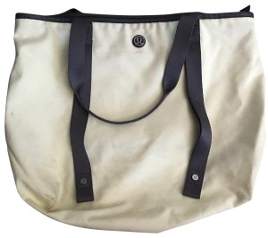 Lululemon Tote Canvas Light Yellow Travel Bag