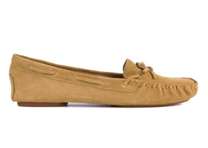 Armani Jeans Suede Moccasin Brown Flats