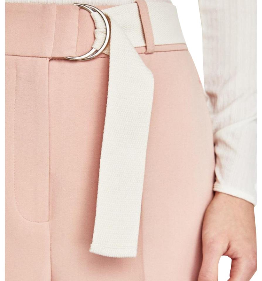 25269631 Zara Pink Nude Trousers with Belt Pants Size 8 (M, 29, 30) - Tradesy