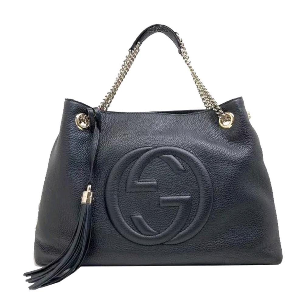 a46d2fcf4489 Gucci Shoulder Bag Soho Bnwt Women's Gg 536196 Black Leather Tote ...