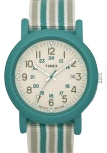 Timex T2N491 Unisex Mixed Green Fabric Strap With White Analog Dial Watch