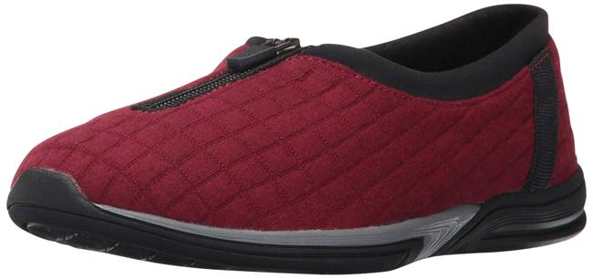 Item - Dark Red Traveler Memory Foam Flats Size US 9 Regular (M, B)