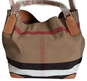 811d51d2853d Burberry New Medium Maidstone Check Brown Canvas  Leather Tote - Tradesy