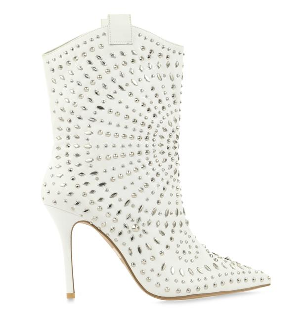 Item - White Ciccone Studded Boots/Booties Size EU 40 (Approx. US 10) Regular (M, B)