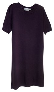 Saks Fifth Avenue short dress Purple Knit Crewneck Short Sleeve on Tradesy