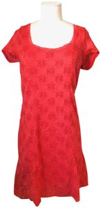 Free People short dress CORAL RED on Tradesy