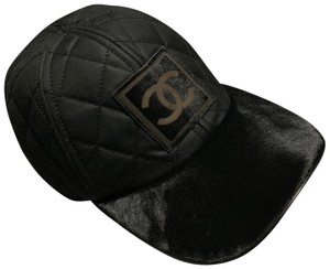 Chanel Chanel pony hair Logo Quilted hat