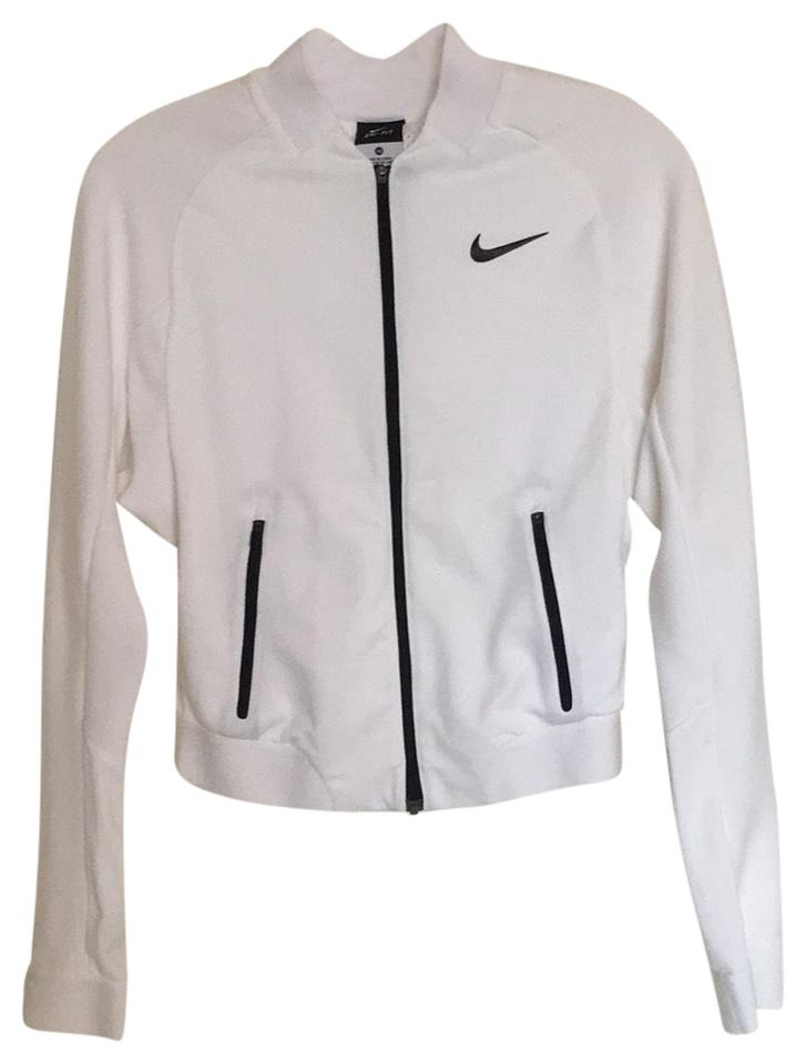 356b50aa3a51 Nike White Navy Jacket Activewear Top Size 0 (XS) - Tradesy