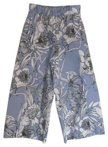 Zara Wide Leg Pants Floral print/Striped