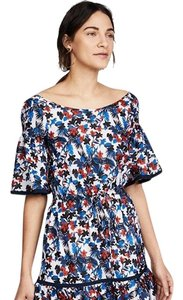 Multi Maxi Dress by MILLY Offtheshoulder Midi Ruffle Floral