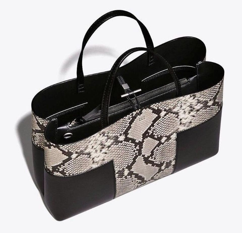 39753ee740 Tory Burch Fall Winter Tote in natural black snakeskin new Image 11.  123456789101112