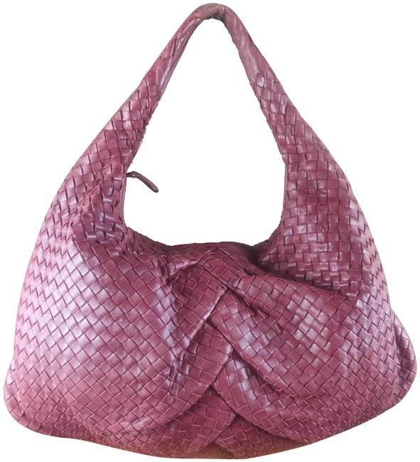 Item - Intrecciato Pleated Maxi Red Nappa Leather Hobo Bag