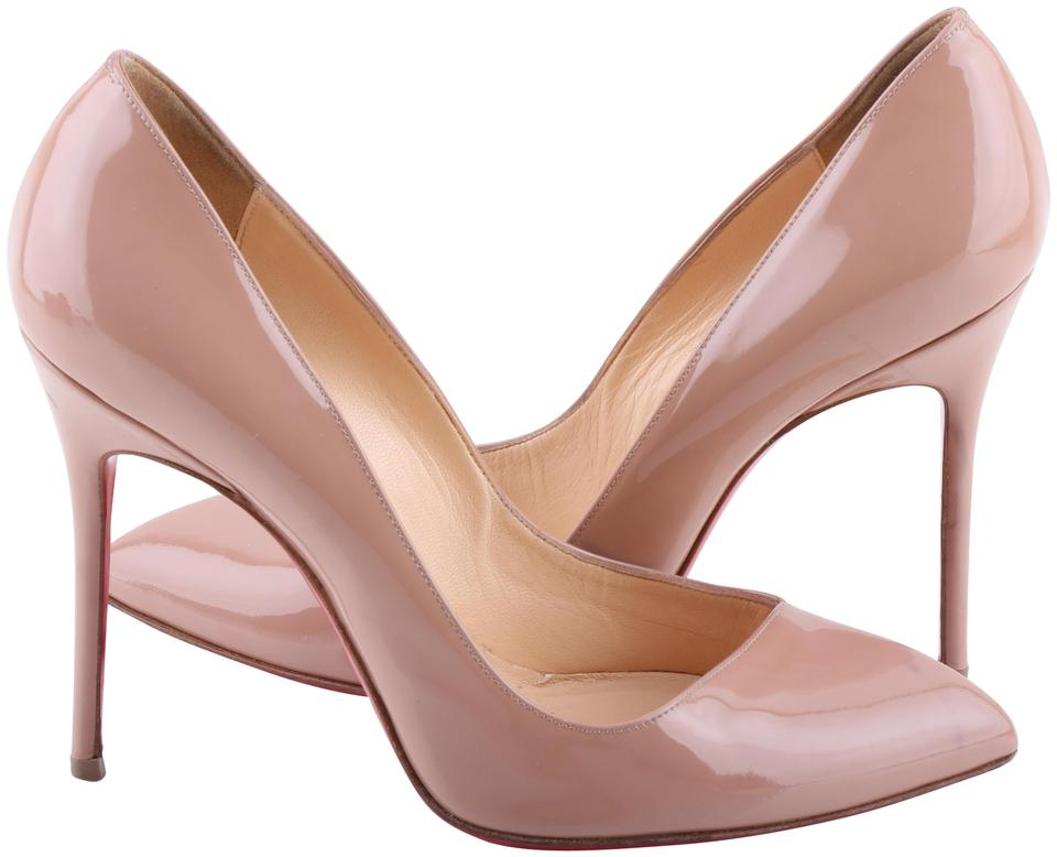 5321e8727b82 Christian Louboutin Neutral Pigalle Nude Patent Leather Pumps Size ...