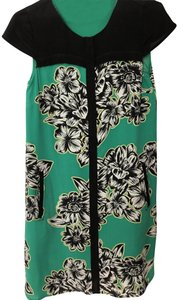 Maeve short dress Green, black and white floral print on Tradesy