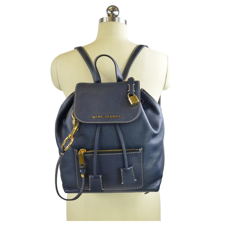 baddc576ca88 Marc Jacobs Bold Grind Blue Sea Leather Backpack - Tradesy