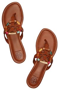 Tory Burch brown, embroidered Sandals