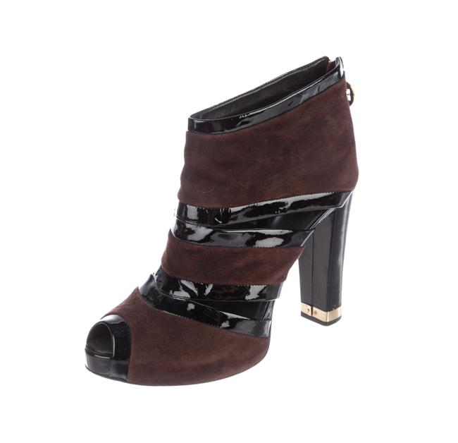Tory Burch Brown and Black Suede Ankle Boots/Booties Size US 9 Regular (M, B) Tory Burch Brown and Black Suede Ankle Boots/Booties Size US 9 Regular (M, B) Image 1