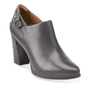 Clarks Leather Dark Gray Boots