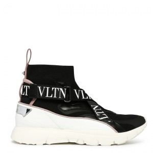 Valentino Heroes High-top Sneakers Black white Athletic