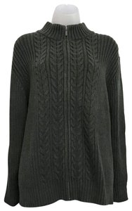 Lands' End Cableknit Fullzip Sweater