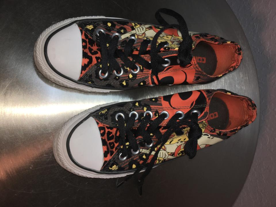 7a128398862cc9 Converse Leopard Limited Edition Cartoon Sneakers ThunderCats - Orange and  Black Athletic Image 7. 12345678