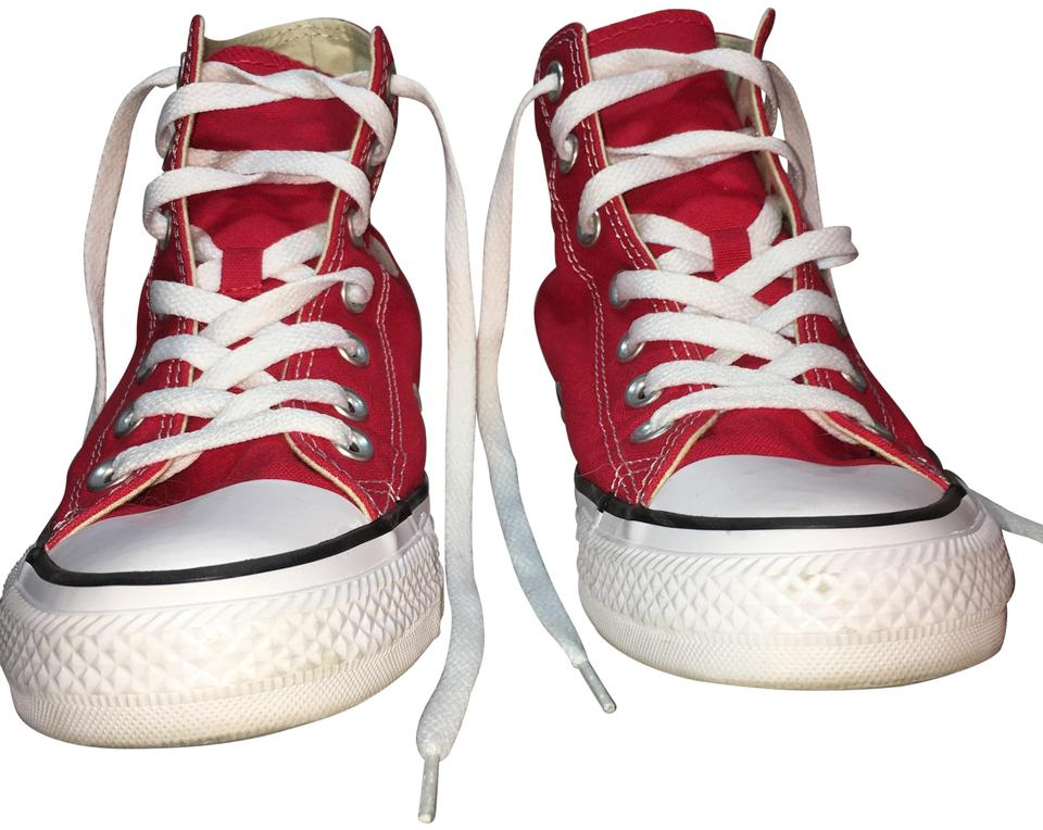 2acdcee0145 Converse Red All Star High Tops Sneakers Size US 7.5 Regular (M, B ...