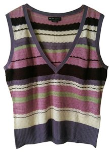 New York & Company Sleeveless Summer Spring Top multicolor