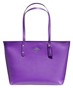 Coach Shoulder 36875 Satchel 36876 Tote in purple