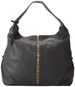 Vince Camuto Leather Black Leopard Hobo Bag