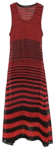 black and red Maxi Dress by Zara
