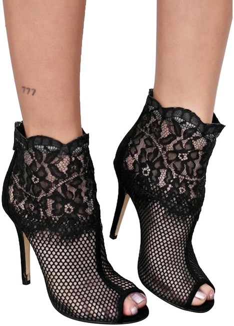 Item - Black Lace Jeopardy Boots/Booties Size US 8.5 Regular (M, B)