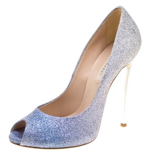 Casadei Blue and Silver Pumps