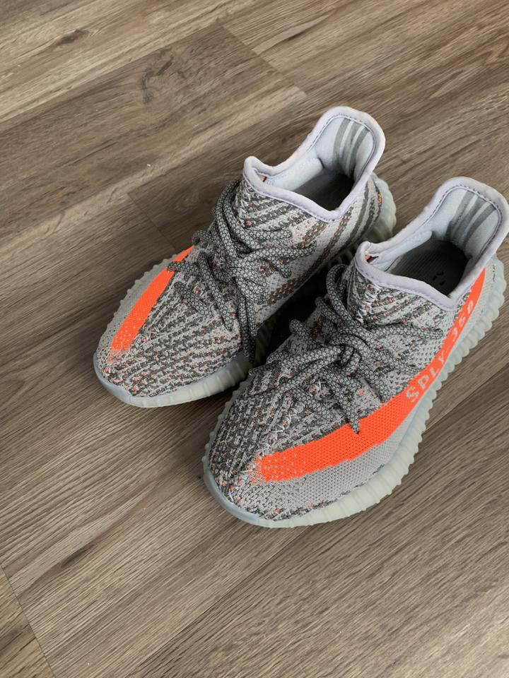 82eb79367d37f YEEZY Gray Adidas Boost Beluga V2 Sneakers Size US 5.5 Regular (M