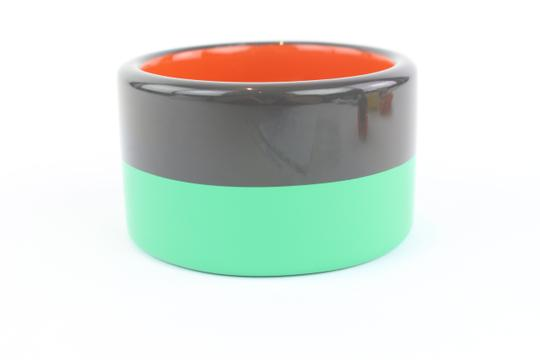 Hermès Charcoal and Mint Green 3 Colombo Bangle Bracelet 11hz1009
