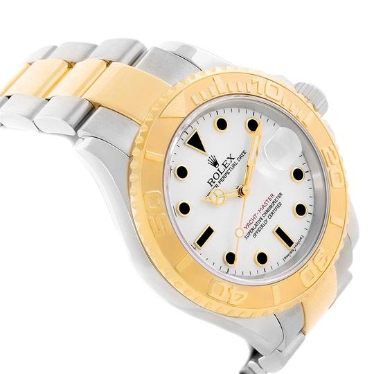 Rolex Rolex Yachtmaster Steel 18K Yellow Gold White Dial Mens Watch 16623