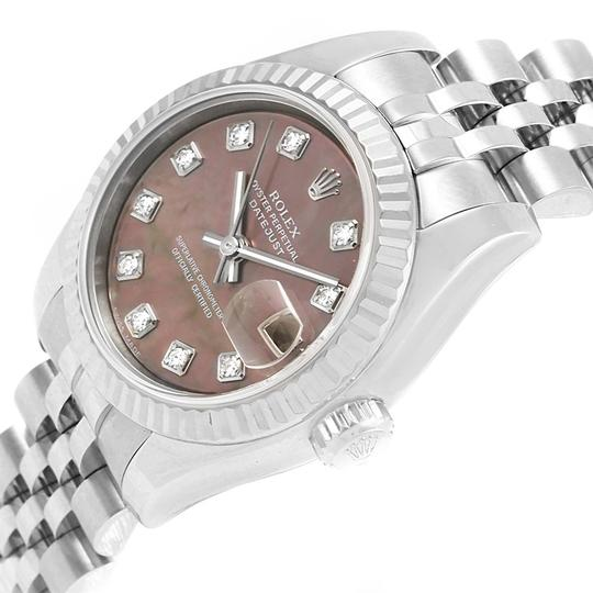 Rolex Rolex Datejust 26 Tahitian MOP Diamond Ladies Watch 179174 Box Papers