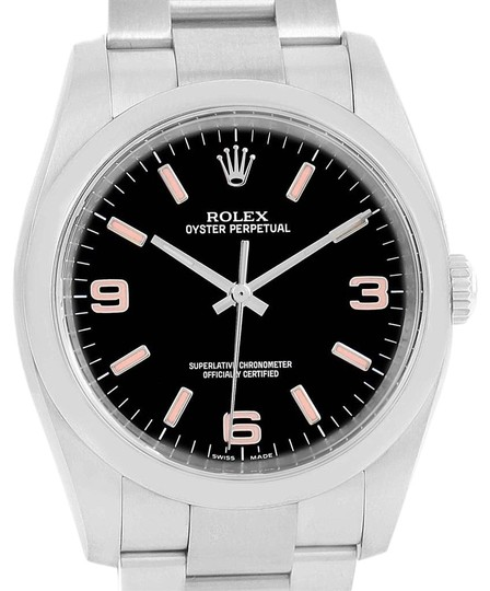 Preload https://img-static.tradesy.com/item/24156071/rolex-black-oyster-perpetual-36-pink-baton-hour-markers-unisex-116000-watch-0-1-540-540.jpg