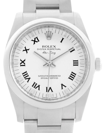 Preload https://img-static.tradesy.com/item/24156080/rolex-white-air-king-34-roman-dial-steel-unisex-114200-unworn-watch-0-1-540-540.jpg