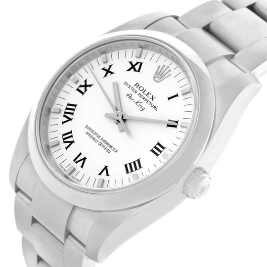 Rolex Rolex Air King 34 White Roman Dial Steel Unisex Watch 114200 Unworn