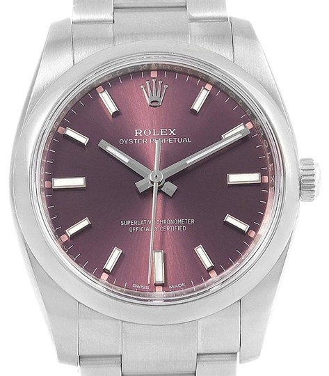 Preload https://img-static.tradesy.com/item/24156092/rolex-red-grape-oyster-perpetual-34-dial-steel-unisex-114200-watch-0-1-540-540.jpg