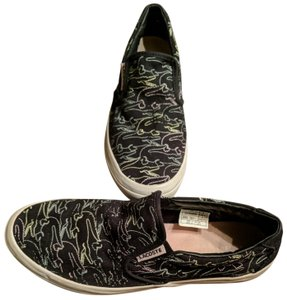 6fdec902f Lacoste Size 8.5 Womens Black with multi-colored crocodiles Athletic