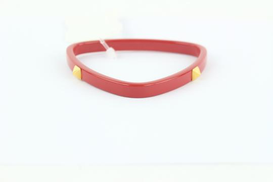 Hermès Red and Gold Idylle Triangle Bangle 40hz1009