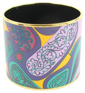 Hermès Multicolor Extra Ultra Mega Wide Enamel Bangle 48hz1009