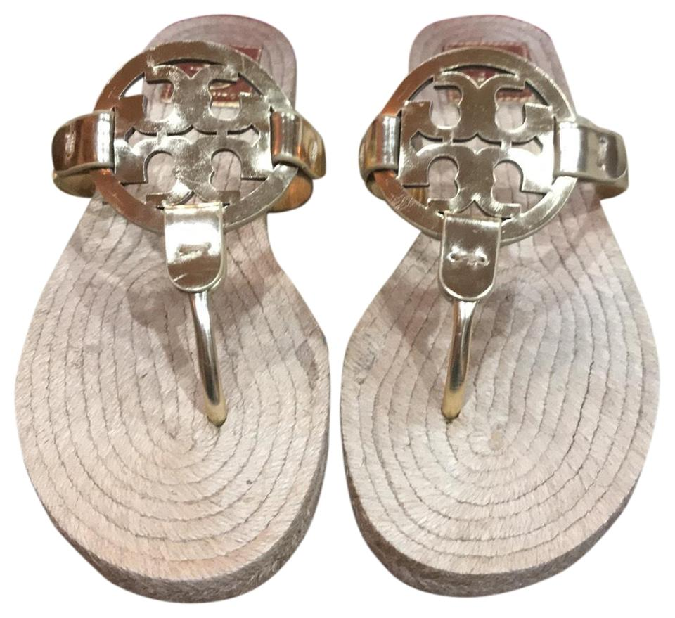 1cc9570b3765 Tory Burch Gold Miller Espadrilles Sandal-mirror Metallic Sandals ...