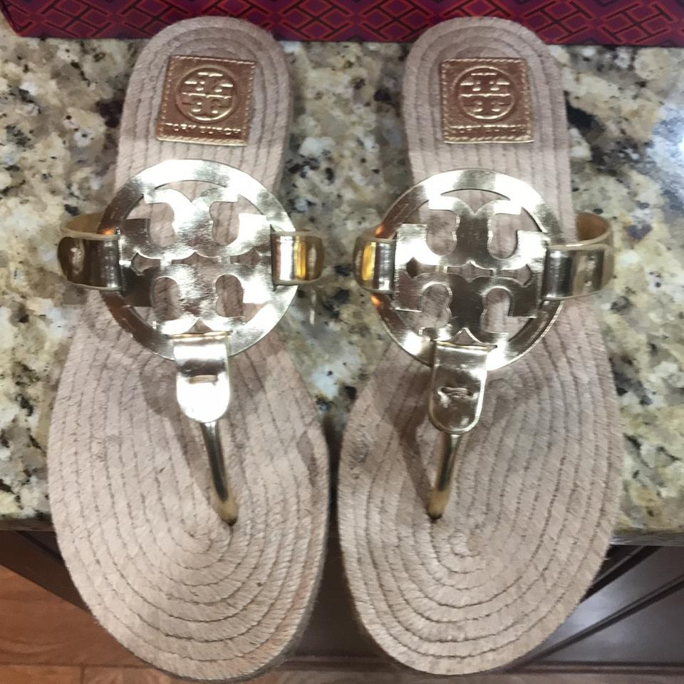 2c8808b2982c Tory Burch Gold Miller Espadrilles Sandal-mirror Metallic Sandals Size US 9  Regular (M