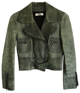 Chloé See By Green Leather Jacket