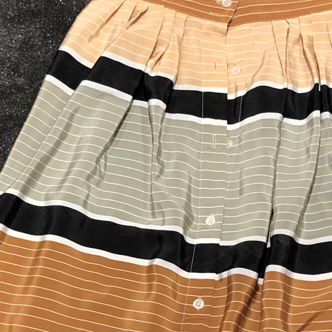 Vintage Claiborne Skirt green and tan